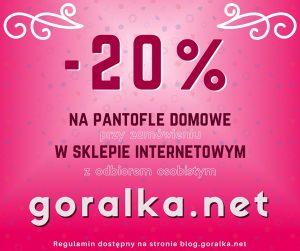 20% rabatu na zakupy w goralka.net z odbiorem osobistym